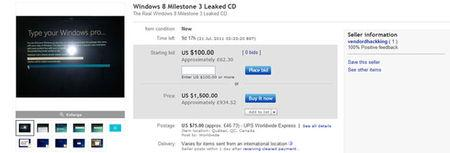 Windows 8 OS Leaked CD/DVD is for Sale on eBay the best online shopping website