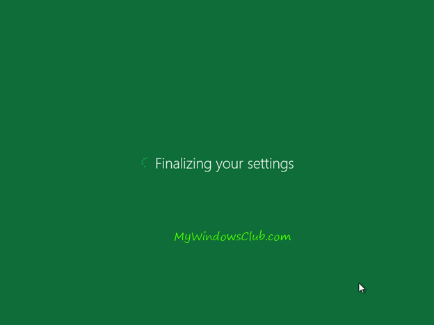 Finalize Windows 8 installation