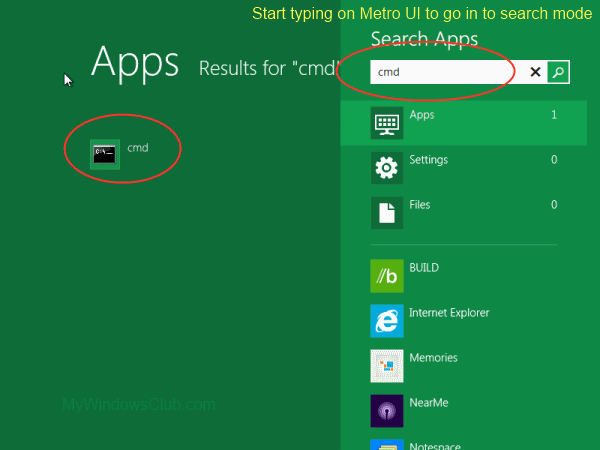 how to run command prompt in windows 8