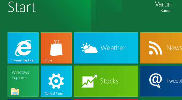 Control Panel in Windows 8