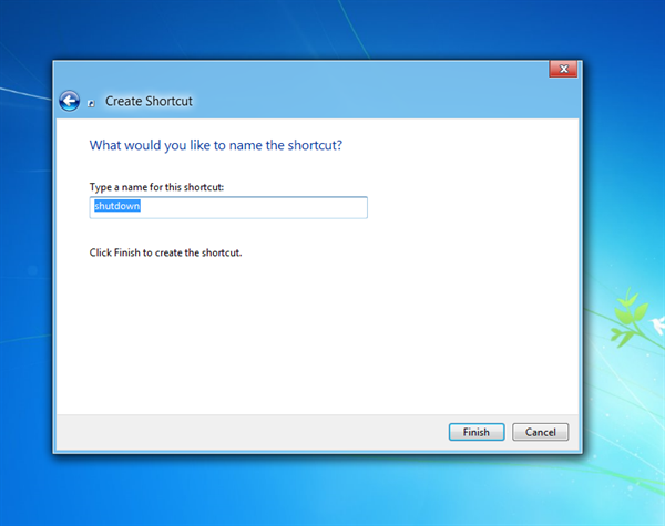 Step 3 in creating shutdown App for Windows 8