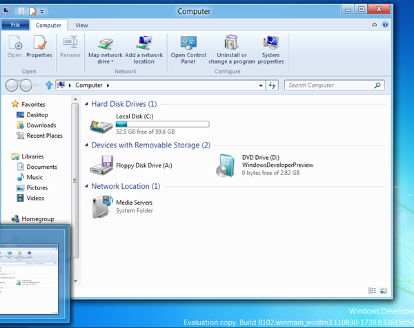 Windows Explorer in Windows 8