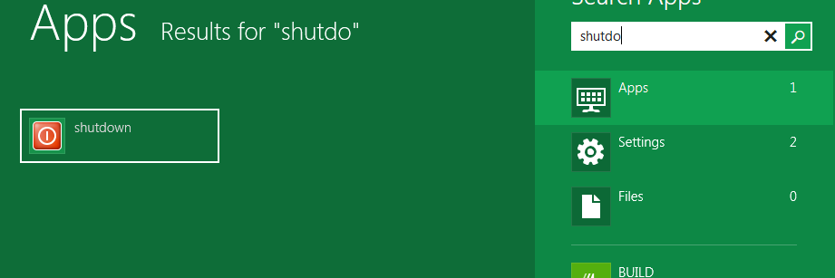 Shutdown App in Windows 8