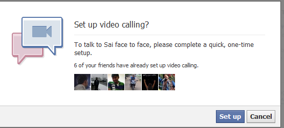 Video calling in Facebook