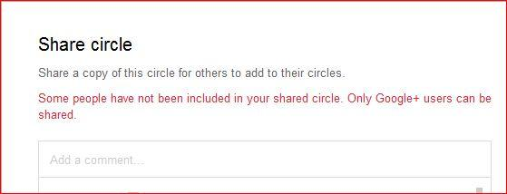 Share feature in Google+