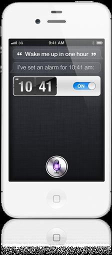 Siri on Apple i phone 4S
