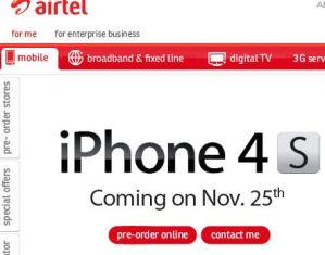 book iphone 4S in Airtel