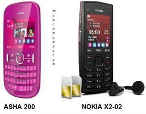 Nokia Asha 200 and Nokia X2-02