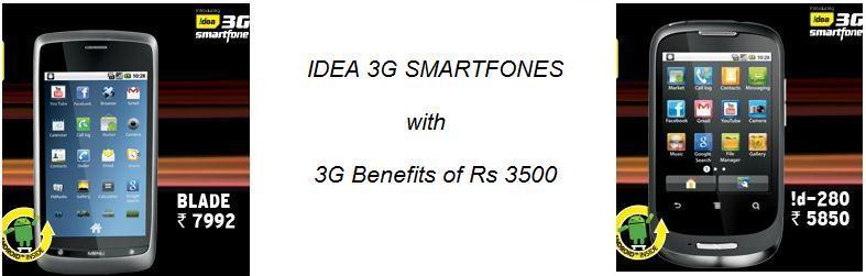 IDEA 3G smartphones