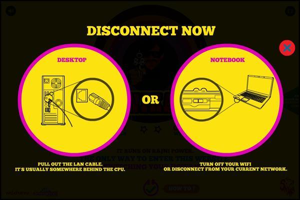 Rajinikanth website which runs without internet
