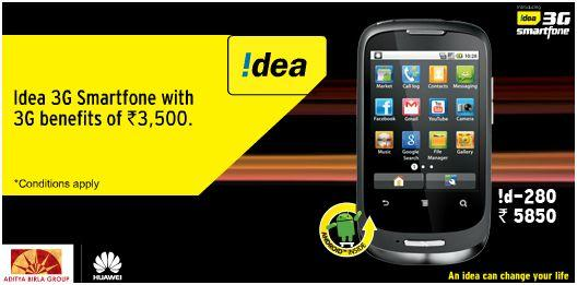 Idea id 280 3G android smartphone price and specifications