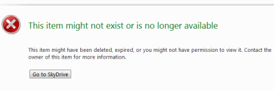 SkyDrive sucks - File deleted error