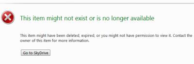 SkyDrive sucks - File deleted error