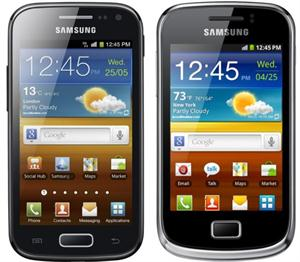 Samsung Galaxy Ace 2 and Samsung Galaxy Mini 2 smartphones