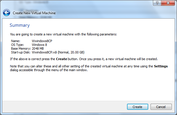 VM VirtualBox Create Virtual Machine Step 8