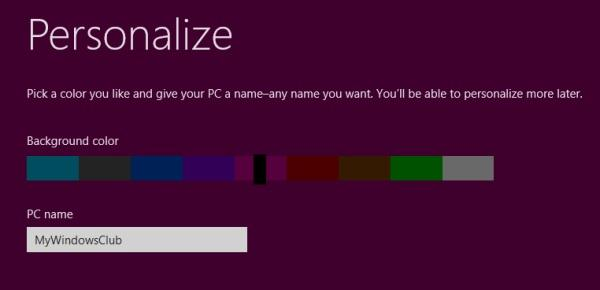 Windows 8 Setup Step 6
