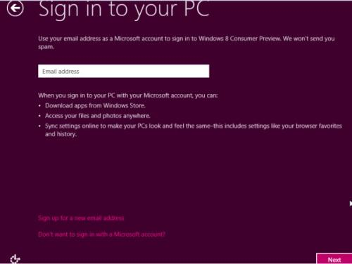 Windows 8 Setup Step 8