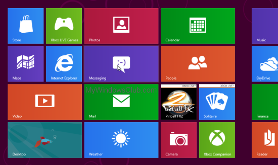 Windows 8 Welcome Screen