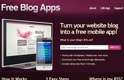 Make Android App for your blog/website