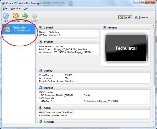 Windows 8 Release Preview on Oracle VirtualBox