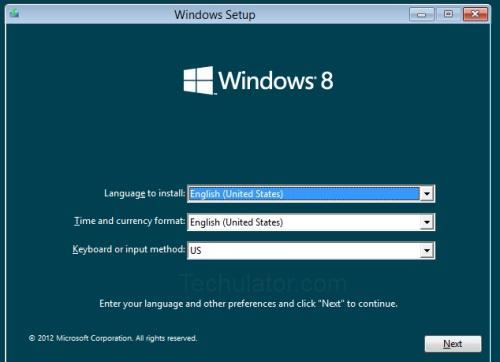Windows 8 installation on Oracle VM VirtualBox