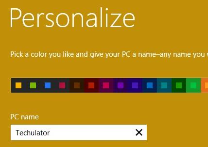 Personalize Windows 8 Upgrade