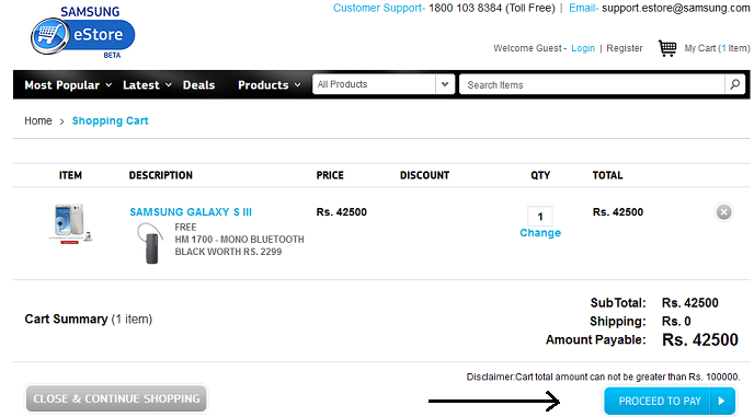How to buy Samsung Galaxy S III online?