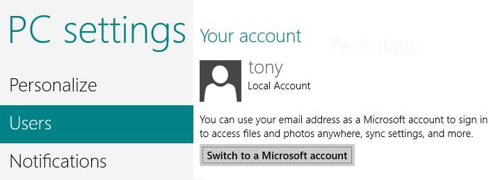 Switch to Microsoft Account