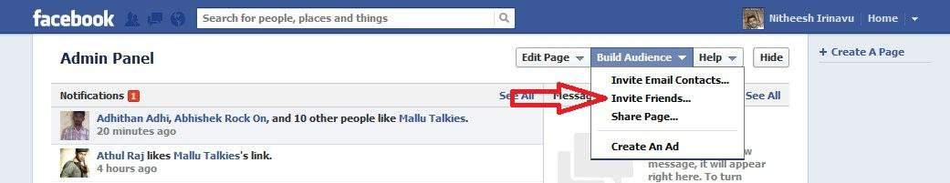 How to invite friends to a page easily in Facebook