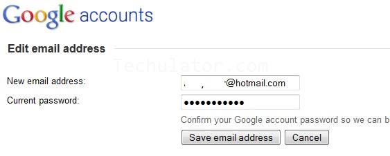 Change existing AdSense email id