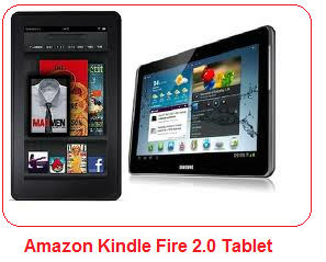 Amazon Kindle Fire 2.0 tablet and its specifications