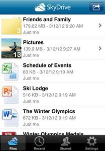 SkyDrive App