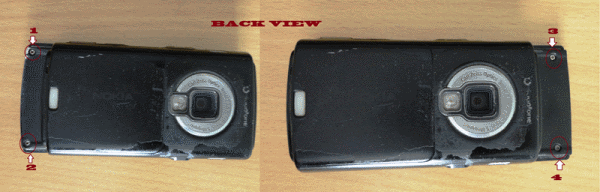 Nokia N95 8GB Back side view