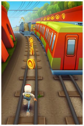 iOS game Subway Surfers reviews, walkthrough and how to play tips