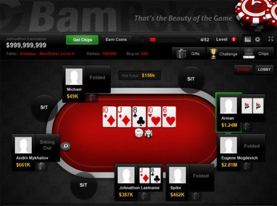 BamPoker game