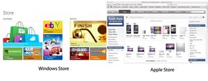 Windows 8 Vs Mac OS X Mountain Lion image store