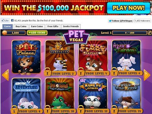 Pet Vegas slots