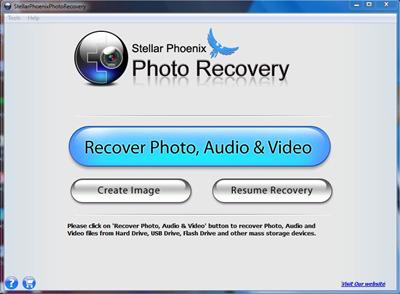 Stellar Phoenix Photo Recovery 5 software lively window screen