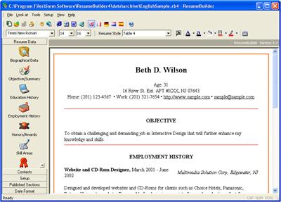awesome software application to create your personal resume