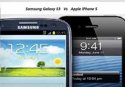 Samsung Galaxy S3 vs Apple iPhone 5 comparison image 1