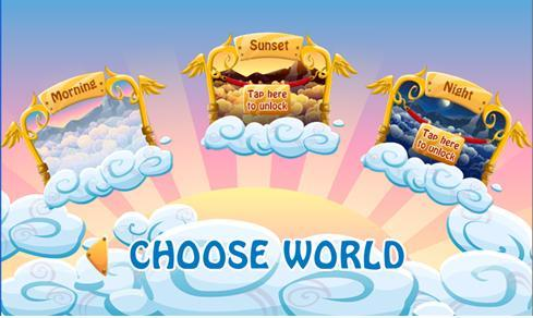 The Cloud Runner worlds levels