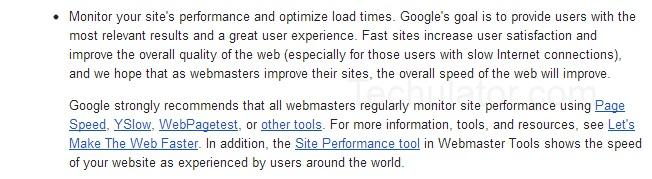 Website speed affect SEO