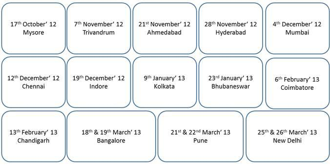 TechDays Schedule in India
