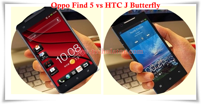 Oppo Find 5 vs HTC J Butterfly Head to Head Comparison