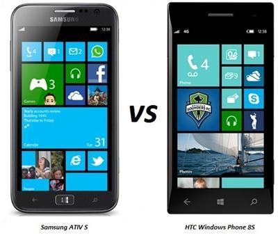 Samsung ATIV S vs HTC Windows Phone 8S comparison review