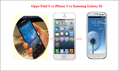 Oppo Find 5 vs iPhone 5 vs Samsung Samsung Galaxy S3 - Comparison
