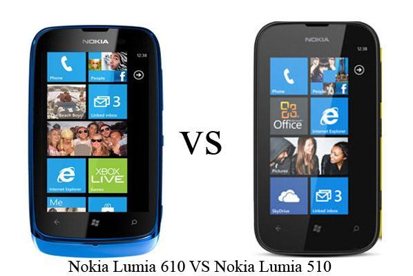 nokia lumia 510 and nokia lumia 610