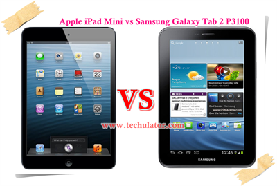 Apple iPad Mini vs Samsung Galaxy Tab 2 P3100