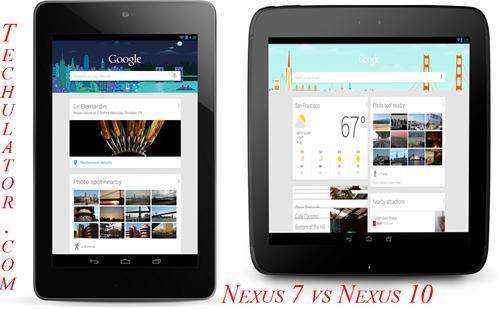 Nexus 10 vs Nexus 7