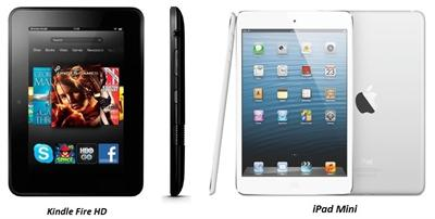 Apple iPad Mini and Amazon Kindle Fire HD A Comparison image 1
